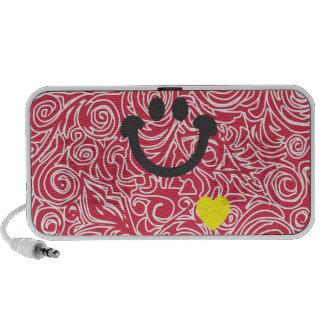 Líneas Curvy altavoz rojo del Doodle de la sonrisa