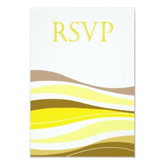 """Líneas Curvy amarillo de RSVP Invitación 3.5"""" X 5"""""""