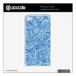 Líneas Curvy azules Calcomanía Para El iPhone 4