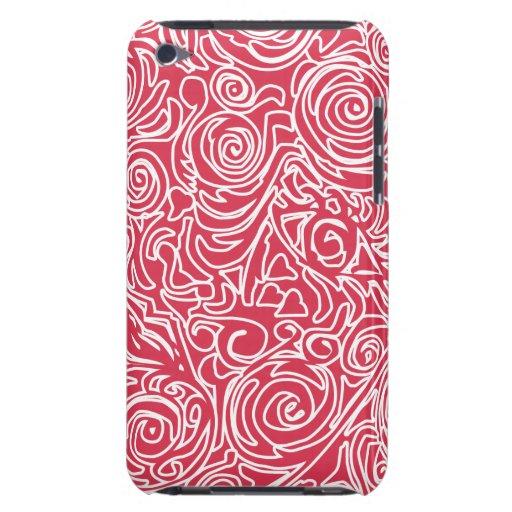 Líneas Curvy caja roja de iPod iPod Touch Case-Mate Cobertura