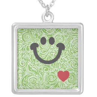 Líneas Curvy collar de la sonrisa del verde