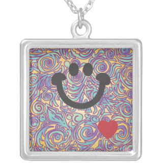 Líneas Curvy collar púrpura de la sonrisa del bati