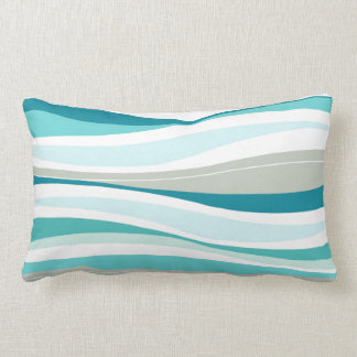 Líneas Curvy diseñador de la aguamarina Almohadas