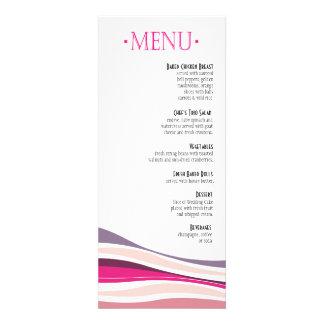 Líneas Curvy fuschia del menú de la cena Invitación Personalizada