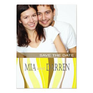"""Líneas Curvy reserva de la foto el amarillo de la Invitación 5"""" X 7"""""""