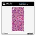 Líneas Curvy rosa del batik Skins Para iPhone 4