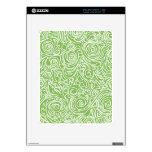 Líneas Curvy verde Calcomanía Para iPad