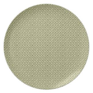Líneas de ángulo recto espirales célticas del plato