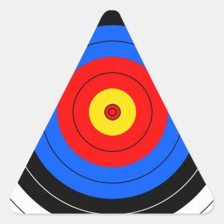 Líneas de blanco pegatina triangular