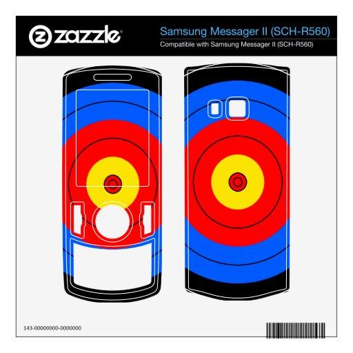 Líneas de blanco samsung messager II skin