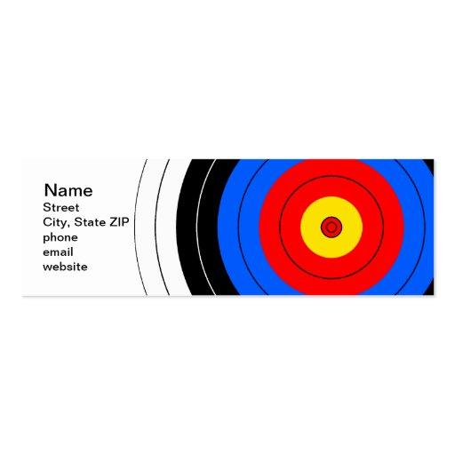 Líneas de blanco tarjetas de visita mini
