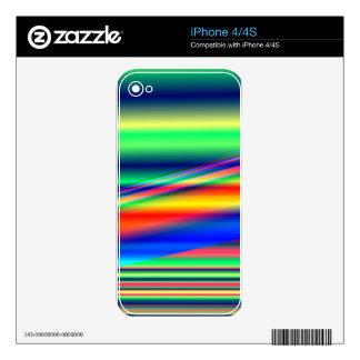 Líneas de color abstractas: iPhone 4S calcomanía