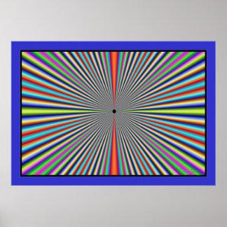 Líneas de color Dizzying túnel Póster
