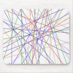 Líneas de color fondo de la variedad alfombrillas de ratones