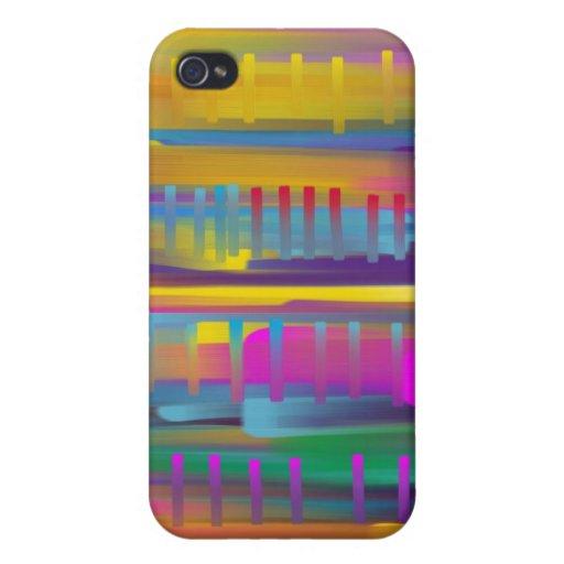 líneas de color iPhone 4 carcasa