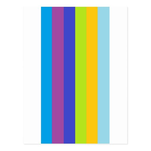 Lineas de colores postales