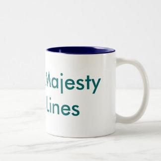 Líneas de cruceros imperiales de la majestad taza de dos tonos