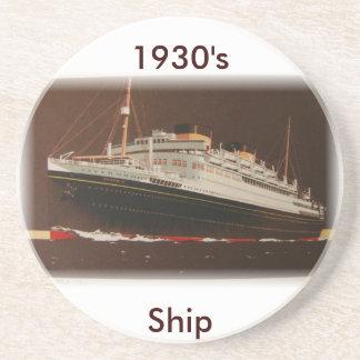 líneas de Cunard de los años 30 Posavasos Diseño