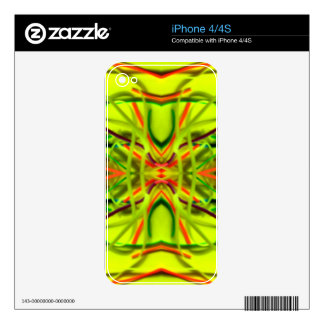 Líneas de doblez de la cal del limón por BethofArt Calcomanías Para iPhone 4