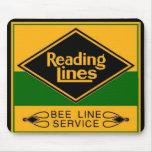 Líneas de ferrocarril de la lectura, línea tapetes de raton