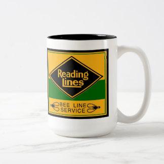 Líneas de ferrocarril de la lectura, línea tazas