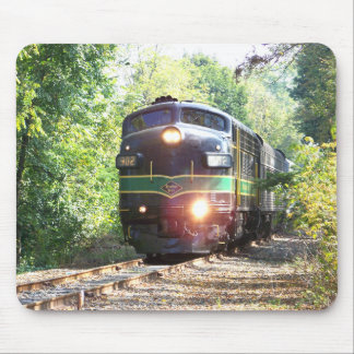 Líneas de ferrocarril de la lectura locomotora die tapetes de raton