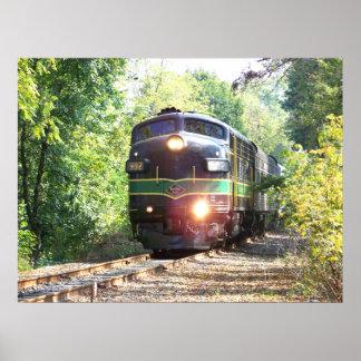Líneas de ferrocarril de la lectura locomotora impresiones