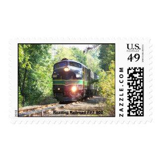 Líneas de ferrocarril de la lectura locomotora franqueo