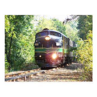 Líneas de ferrocarril de la lectura locomotora postales
