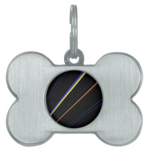 Líneas de inclinación placa de mascota