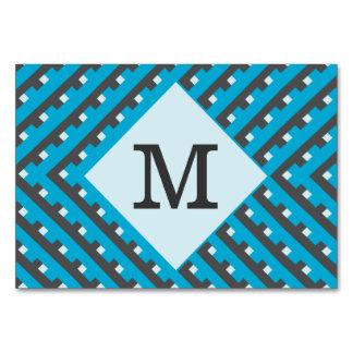 Líneas de intersección azules del monograma