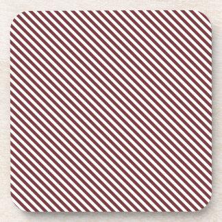 Líneas de la diagonal de Brown Posavasos De Bebida