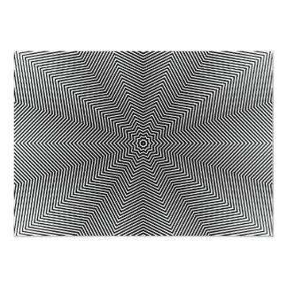 """Líneas de la estrella de la ilusión óptica invitación 5"""" x 7"""""""