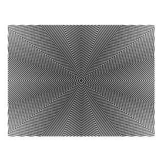 Líneas de la estrella de la ilusión óptica postales