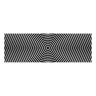 Líneas de la ilusión óptica tarjetas de visita mini