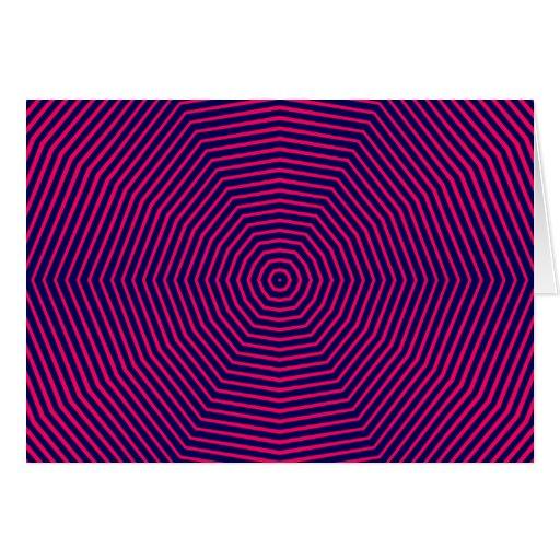 Líneas de la ilusión óptica tarjetón