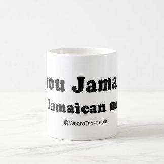 """¿LÍNEAS de la RECOGIDA - """"es usted jamaicano? Uste Taza De Café"""