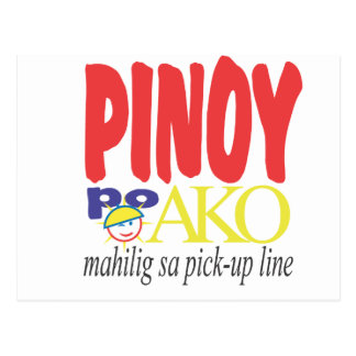 Líneas de la recogida Mahilig sa de Pinoy po Ako Tarjetas Postales