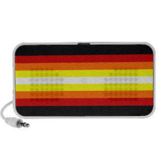Líneas de los sonidos del estilo laptop altavoces