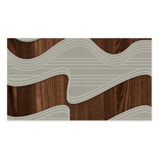 Líneas de madera imagen Printt de la onda del vint Tarjetas De Visita