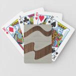 Líneas de madera impresión de la onda del vintage  barajas de cartas