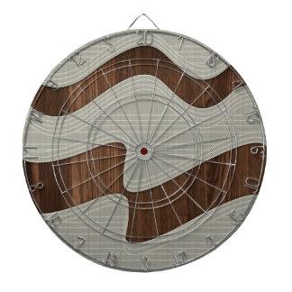 Líneas de madera impresión de la onda del vintage tablero dardos