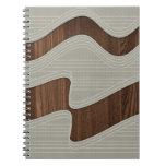 Líneas de madera impresión de la onda del vintage  libretas espirales