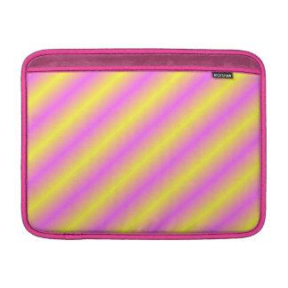 Líneas de neón amarillas y rosadas de Sideway Fundas MacBook