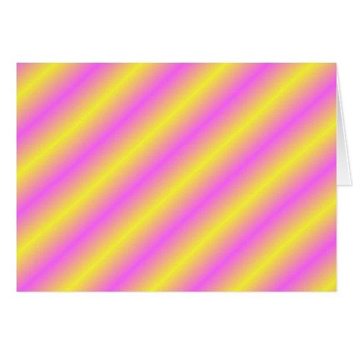 Líneas de neón amarillas y rosadas de Sideway Tarjetón