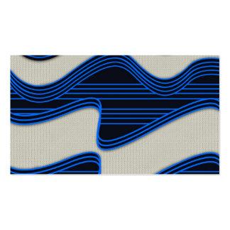 Líneas de neón azules impresión de la tela blanca  tarjetas de visita