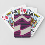 Líneas de neón impresión de la onda del trullo bla baraja cartas de poker