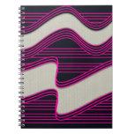 Líneas de neón impresión de la onda del trullo bla cuadernos