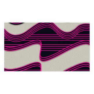 Líneas de neón impresión de la onda del trullo bla tarjetas de visita