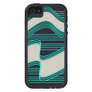 Líneas de neón impresión de la onda del trullo iPhone 5 funda